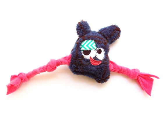 Lil Mini Plush 'n Tug Durable Dog Toy with Heart Fortune & Squeaker - Suzie Mue by Fugly Friends