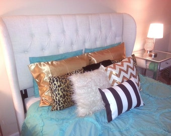 Leopard Faux Fur Throw Pillows Pair With Insert Included