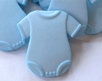 Blue Boy Baby Buttons Onesies Dress It Up Lot of 6