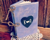 Rustic Advice For The Bride Book Wedding Guest Book Rustic Wedding Planner Book Rustic Bridal Shower Guest Book Rustic Woo