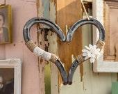 Rustic Wedding Decor Horseshoe Heart Decor Horse Shoe Decor Good Luck Heart Horseshoe Wedding Decor Barn Wedding Rustic Wedding Decor