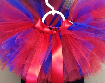 "Red & Blue Custom Made Basic Tutu for Preteens/Teens/Adults waist up to 34 1/2""  Great for Birthdays, Photography Prop, and Dance"