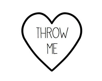 24 Throw Me Heart Seals / Stickers -You Pick Color (kraft, red, pastel pink, white)- wedding confetti