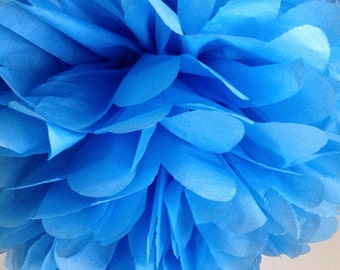 1 Large Pacific Blue Tissue Paper Pom Pom