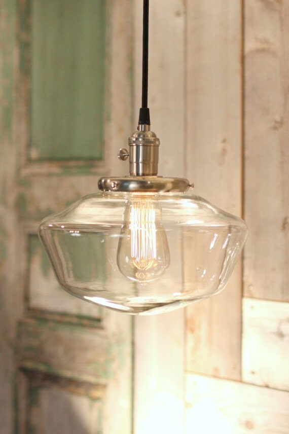 Https Www Etsy Com Listing 163916594 Schoolhouse Lighting With 10 Clear
