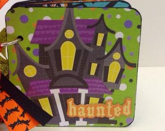 Halloween brag book premade pages coaster album scrapbook haunted