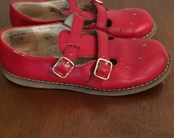 Ruby red t strap Mary Janes