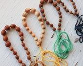 Nursing Necklace / Teething Necklace / Babywearing Necklace - Wooden Beaded Necklace by Kangaroo Care - Choose Your Color