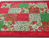 Stawberry Table Topper-Reversible to Fireworks-Free Shipping to US and Canada