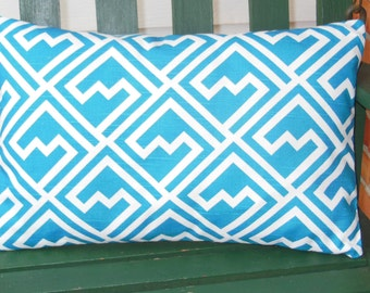Turquoise Decorative Throw Pillow Lumbar Pillow Cover Cushion Aqua/Turquois All Sizes Pillow for Couch Sofa Bed Turquoise Nursery Pillow