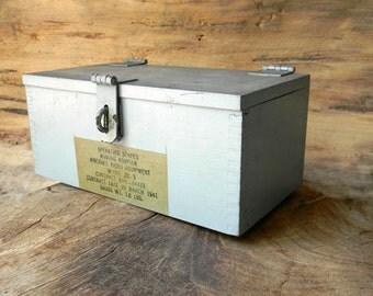 WWII Aircraft Radio Equipment Wood Box Dated March 29, 1941