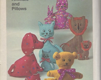 FACTORY FOLDED 1970's Set of Transfers for Stuffed Animals and Pillows