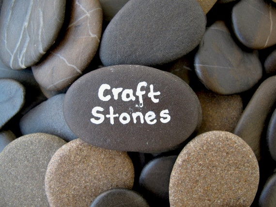 Craft stones wish stones guest book flat rocks craft by for Flat stones for crafts