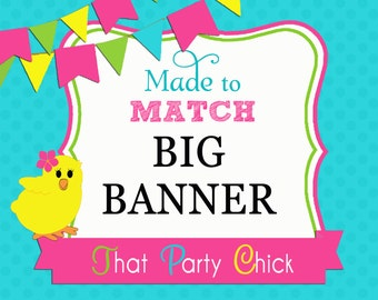 Made to Match Poster or Big Banner Printable by That Party Chick