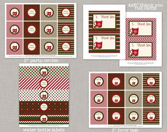 Hot Cocoa Birthday, Christmas Birthday Party Package, Hot Cocoa Party, Printable