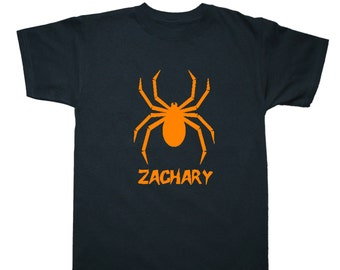 Personalized Halloween Spider Shirt for Kids - Pick your colors!