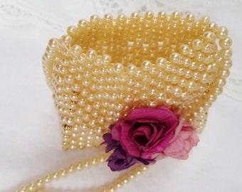 Miniature Faux Pearl Flower Girl Formal Wedding Shoulder Bag Wedding Accessory