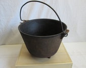 Old Footed Cast Iron Kettle, chuck wagon, farm