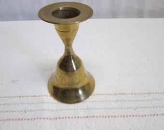 Brass Bell Candlestick Holder, Brass bells candles