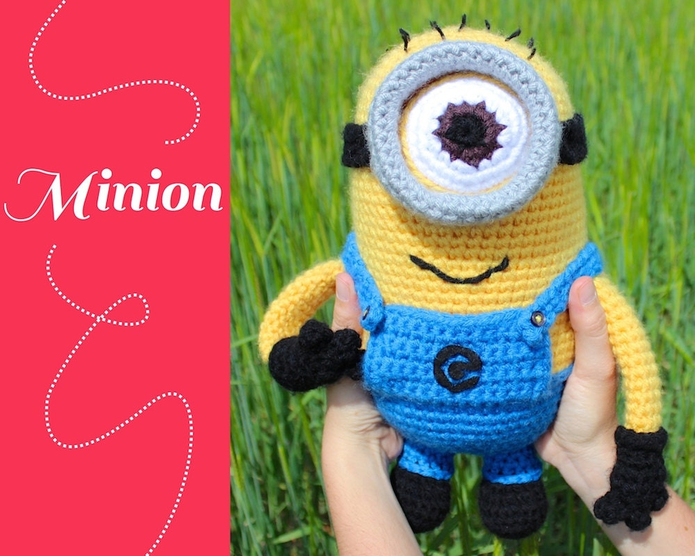 Minion. Patron de ganchillo amigurumi. Despicable me. por ...