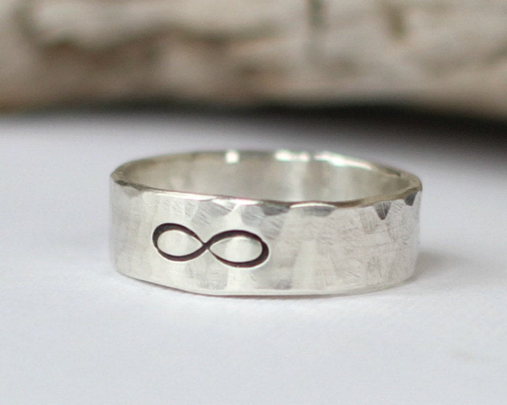 mens infinity ring wedding band promise ring sterling