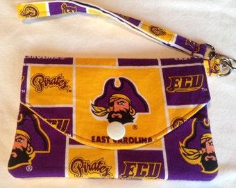 East Carolina University Ecu Pirates Fabric Wristlet