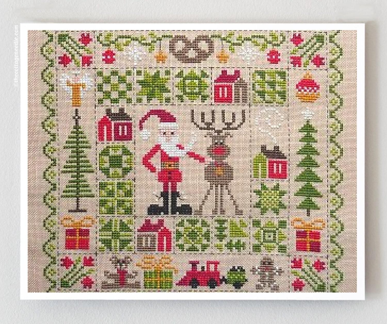 Patchwork de noel counted cross stitch patterns jardin prive for Jardin prive