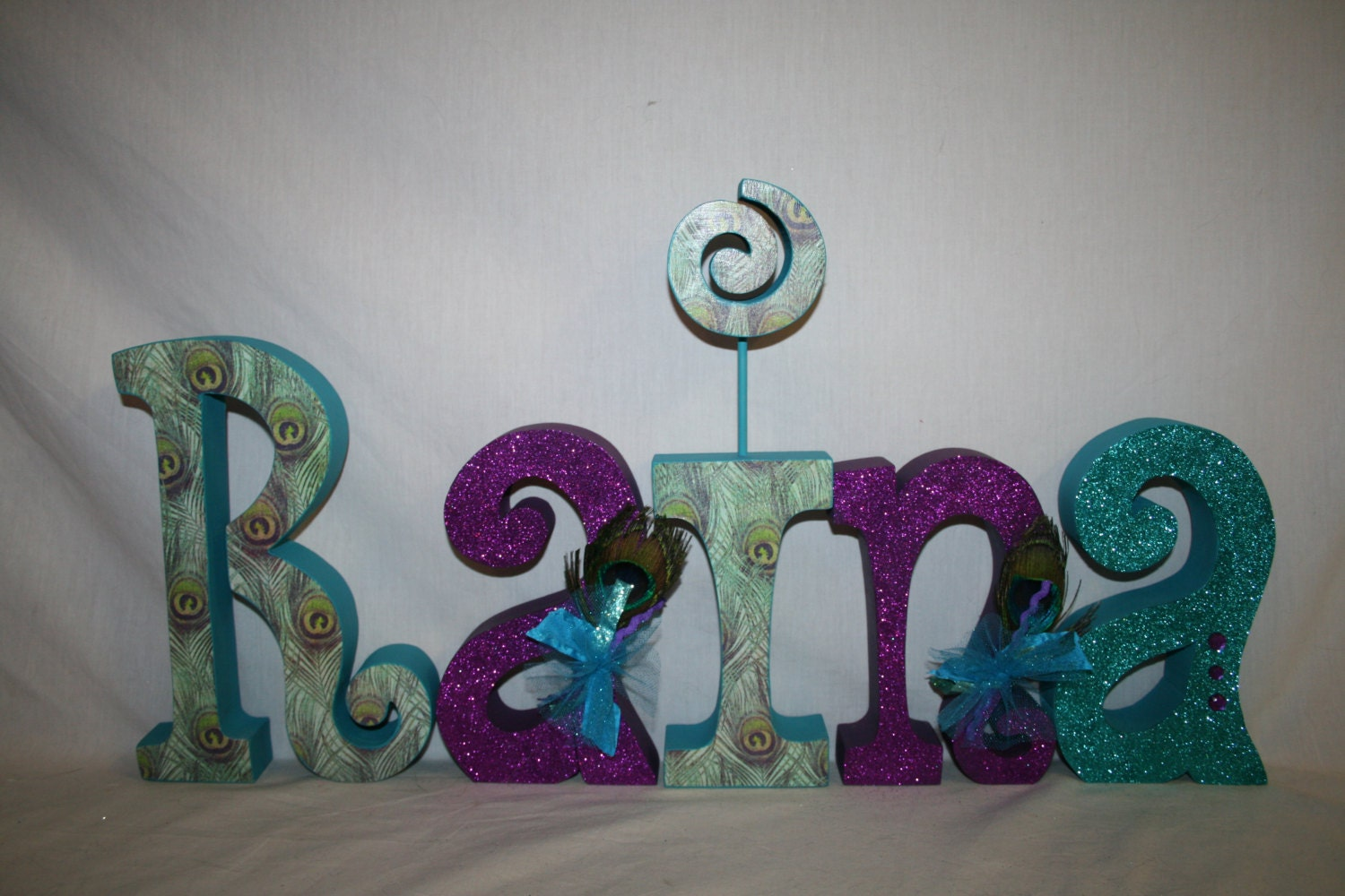 Peacock decor peacock wedding decor 5 letter set name for Decoration 5 letters