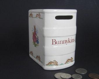 Vintage Royal Doulton BUNNYKINS Book Bank