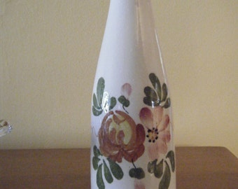 Floral FTD Vase Vintage  , Cream Colored Pottery , Made in Portugal