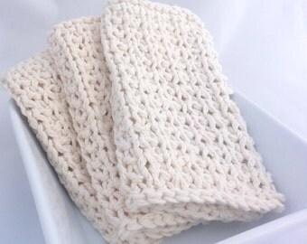 100% Cotton Cloth, Dishcloth, Washcloth, Reusable Paper Towel - Winter White