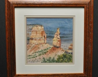 Independence Monument, located in Colorado, original watercolor art