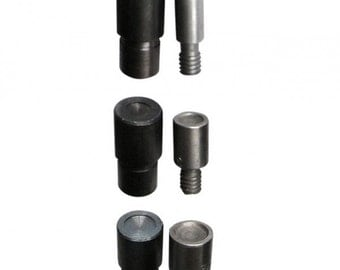 Pack 3 tools for double cap rapid rivets studs for hand press machine dies St07