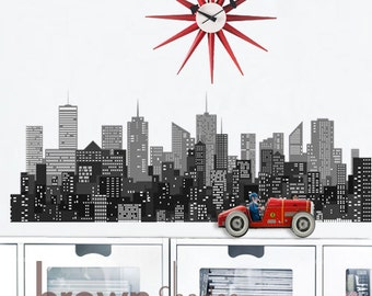 City Lights Peel and Stick Removable Wall Decal