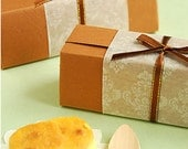 Damask Print Wax Paper, Cookie Wrapper, Greaseproof Paper, Gift Wrap, Set of 10