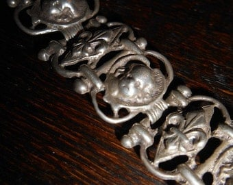 Antique Sterling Fleur-dy-lis Bracelet at Gothic Rose Antiques