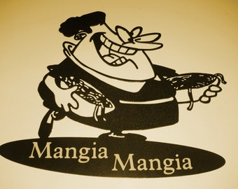 Spaghetti,Italian,Restaurant,Cafe,Kitchen,Metal art,Italy,Mangia,Mama Mia,Gift