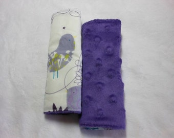 Purple Starling Infant/Toddler Reversible Car Seat Strap Covers