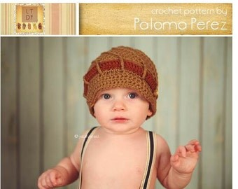 INSTANT DOWNLOAD - Crochet Newsboy Pattern - Spiral Newsboy Pattern - Crochet Pattern