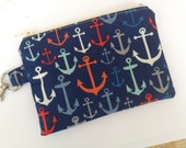 Anchors Away Small Zippered Pouch