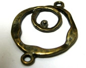 Chandelier Earring Findings Abstract Loops Antique Bronze 31mm 6 pieces