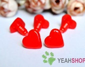 15mmx15mm Red Heart Safety Nose / Plastic Nose - 10 PCS