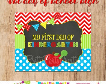 MY 1st DAY of SCHOOL - Printable Sign/Photo Prop