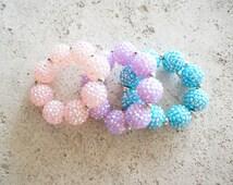 Sparkle childrens bracelet, Girls bracelet, bubblegum bracelet, sparkly bracelet, toddler bracelet, baby bracelet, kids jewelry,baby jewlery
