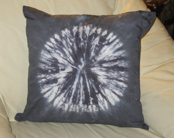 "Pillow cover- 14, 18, or 24 inch- tie dye ""circular-swirl"" design  (You pick the SIZE, and the COLOR))"