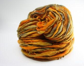 Thick Thin Yarn Merino Handspun Wool tts (tm) Hand Dyed Yarn miniLR 23c
