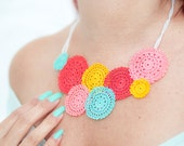 Crochet Lace Statement Necklace