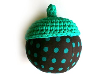 Extra large green pillow acorn