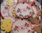 Farm Animal, Barnyard Animal Favor Tags