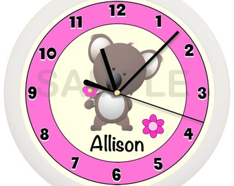 Koala Bear Nursery Wall Clock